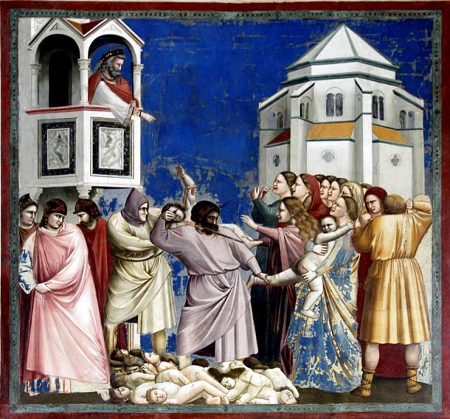 Aprószentek, Giotto di Bondone műve (Forrás: wikipedia.com)